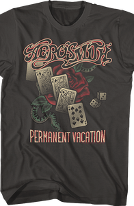 Distressed Permanent Vacation Aerosmith T-Shirt
