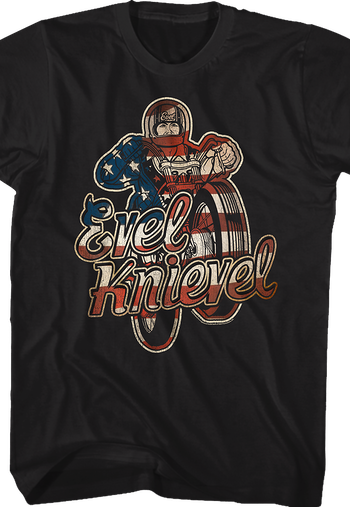 Red White and Blue Evel Knievel T-Shirt