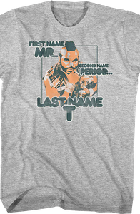 Spell Check Mr. T Shirt