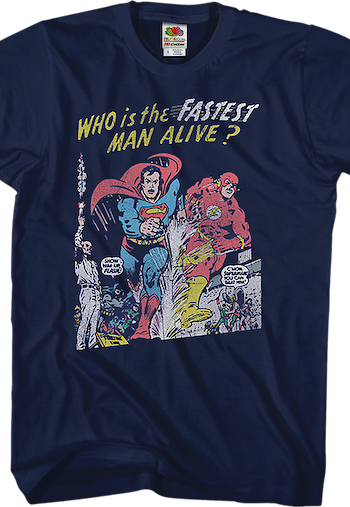 Superman's Race With The Flash T-Shirt