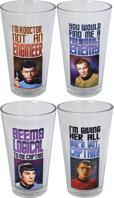 4 Piece Star Trek Glass Set