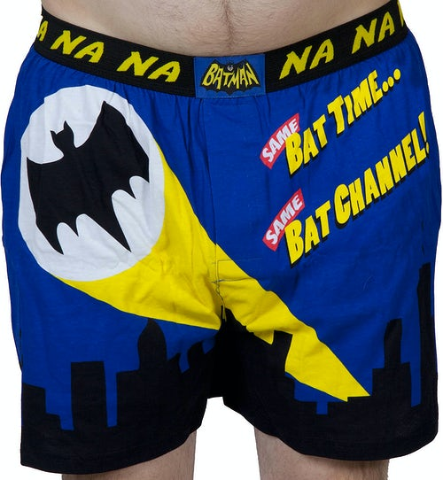 66 Batman Bat Signal Boxer Shorts