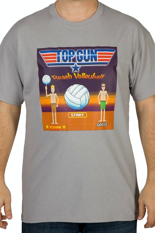 8-Bit Top Gun Volleyball Video Game Shirt: Top Gun Video ... Top Gun Volleyball Shirt