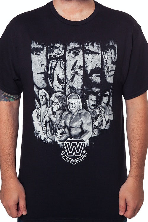80s WWE Wrestlers T-Shirt