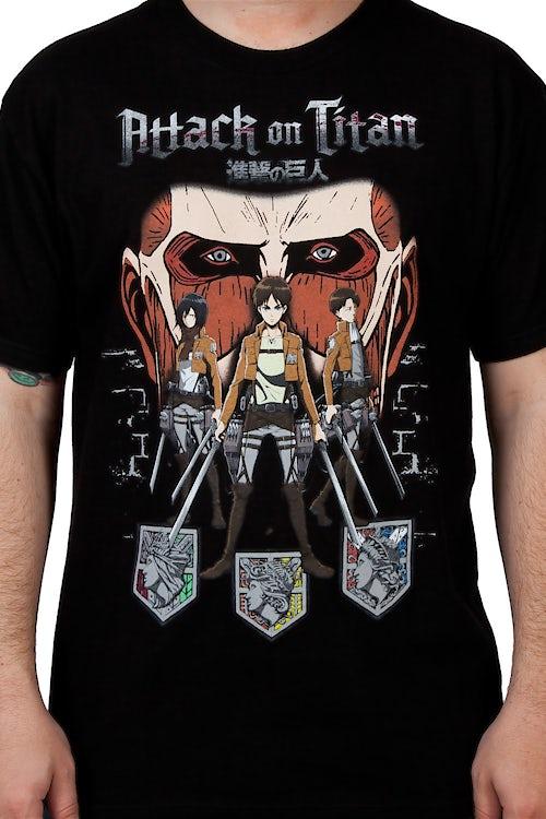cc01adaddde4 Attack on Titan Shirt  Anime Attack On Titan T-shirt