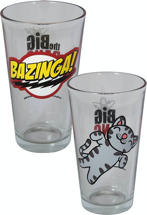 Bazinga and Soft Kitty Pint Glass Set