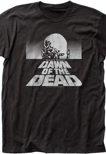 Black and White Dawn of the Dead T-Shirt