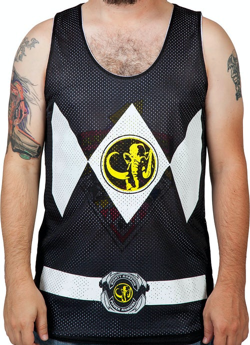 Black Power Ranger Reversible Mesh Tank