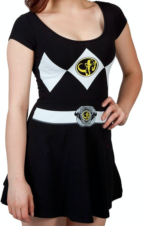 Black Power Ranger Skater Dress