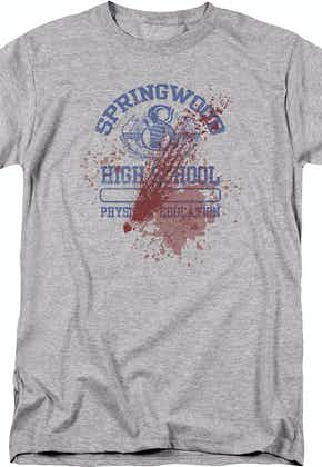 Bloody Springwood High Nightmare On Elm Street T-Shirt