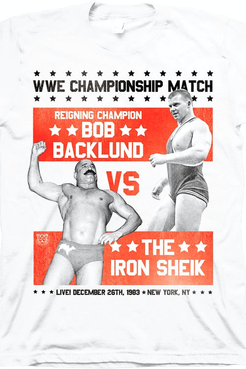 Bob Backlund vs Iron Sheik T-Shirt