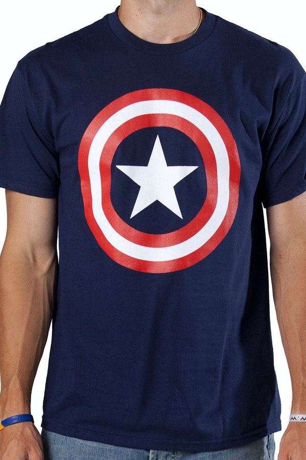 captain america shield t shirt marvel comics captain america t shirt. Black Bedroom Furniture Sets. Home Design Ideas