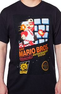 Cartridge Art Super Mario Brothers T-Shirt