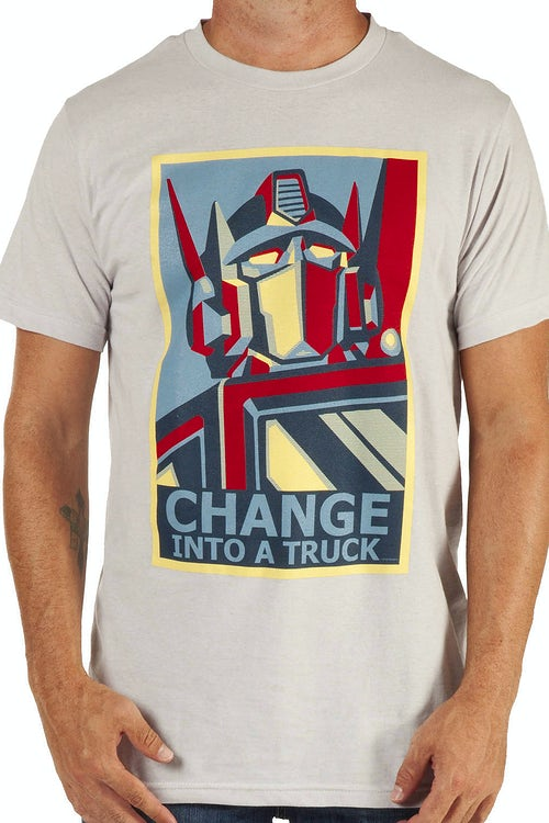Change Optimus Prime Shirt