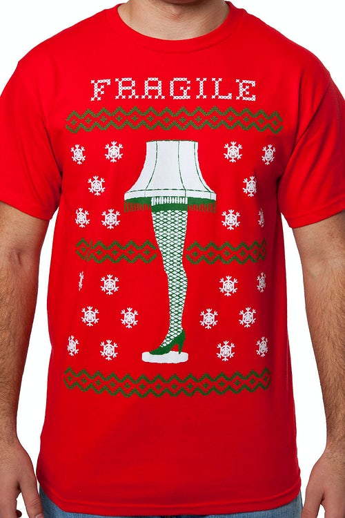 Christmas Story Fragile Leg Lamp T-Shirt