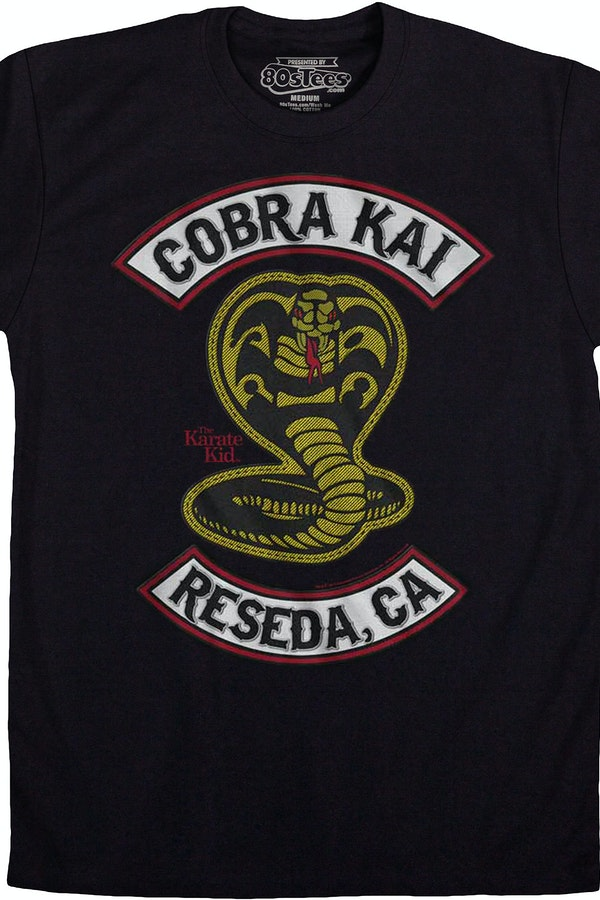 Cobra Kai Patch Karate Kid T-Shirt