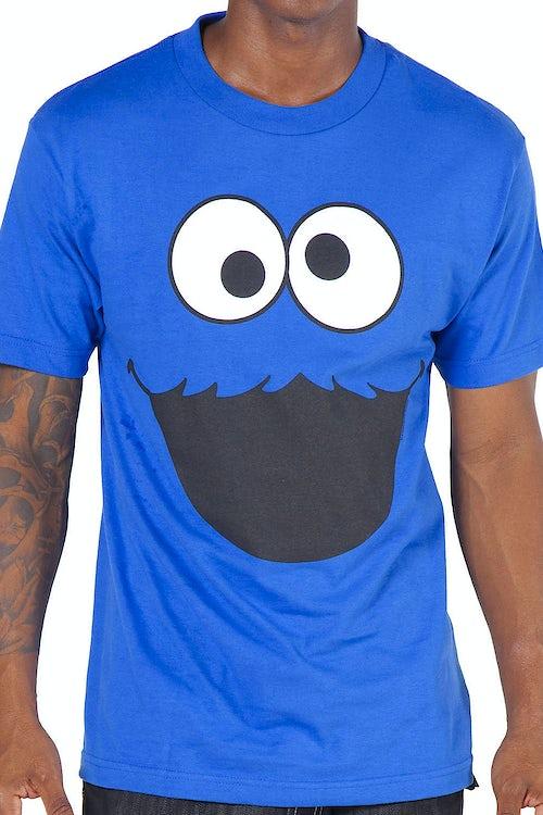 497d5523a Adult Men's Sesame Street Cookie Monster Face T-Shirt: Great @ Parties
