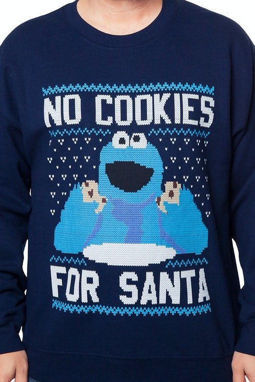 Cookie Monster Faux Christmas Sweater Sesame Street Mens