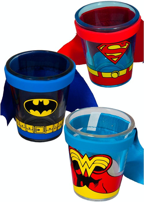 DC Comics Caped Shot Glass Set