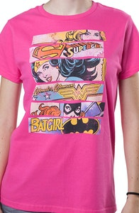 DC Comics Super Heroines T-Shirt