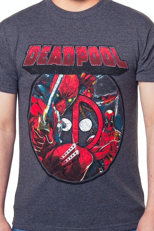 7f1455764 Deadpool Collage T-Shirt: Marvel Comics Deadpool Mens T-Shirt