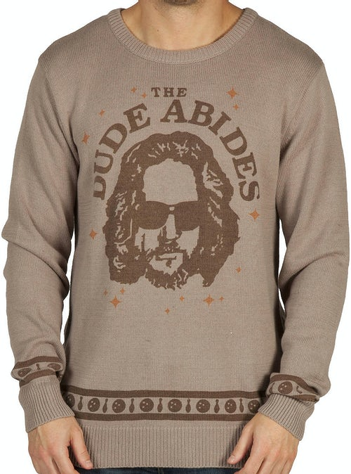 Dude Abides Big Lebowski Sweater