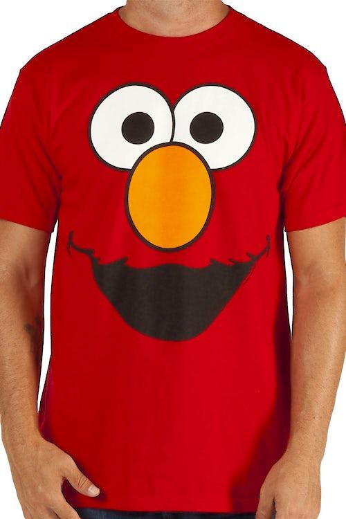 51d91874 Elmo Big Face T-Shirt: 80s TV Sesame Street, Character Face T-shirt