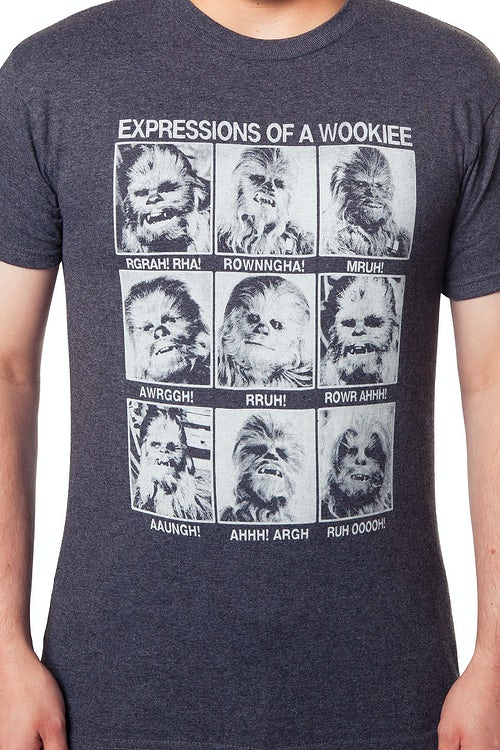 c2405ff14 Expressions of A Wookiee Shirt: Star Wars, Chewbacca Mens T-shirt
