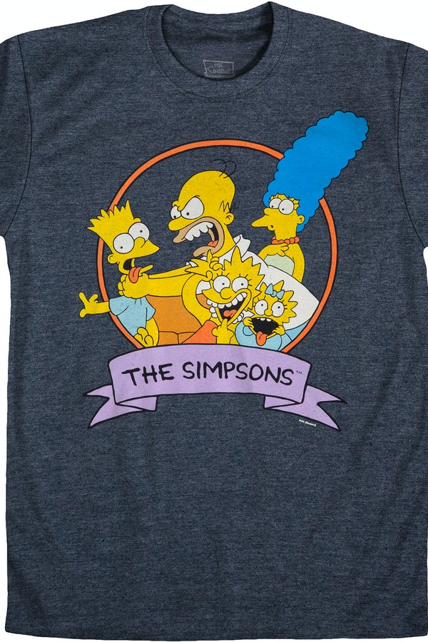 family photo simpsons t shirt simpsons mens t shirt. Black Bedroom Furniture Sets. Home Design Ideas