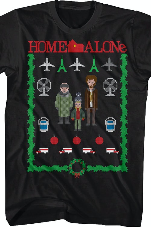 Faux Knit Home Alone Christmas T-Shirt