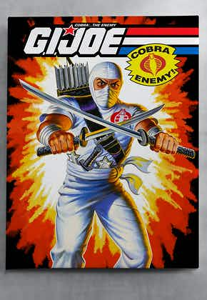 GI Joe Storm Shadow Color Canvas Wall Art