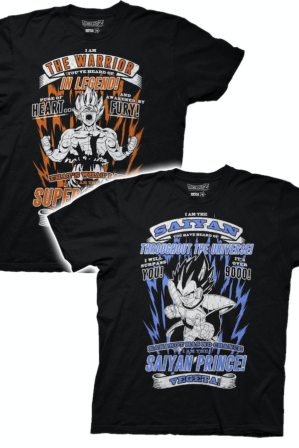 Goku and Vegeta Dragon Ball Z T-Shirt 2 Pack