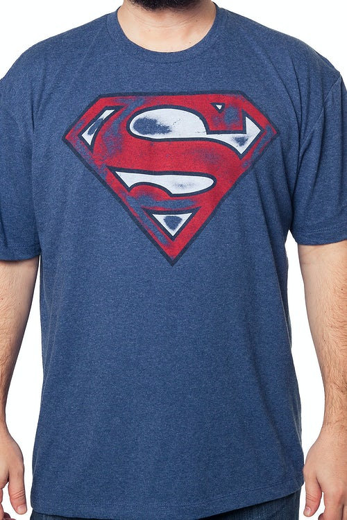 Graffiti Superman Logo T-Shirt