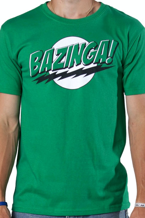Green Bazinga T-Shirt