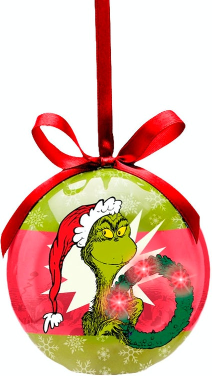 Dr Seuss Grinch Who Stole Christmas LED Ornament