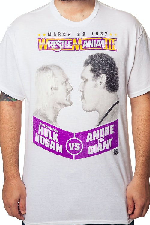 Hulk Hogan Vs. Andre The Giant WrestleMania 3 T-Shirt