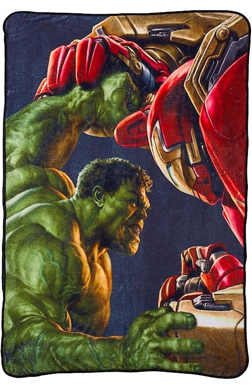 Hulk Vs Hulkbuster Fleece Blanket Super Heroes Avengers