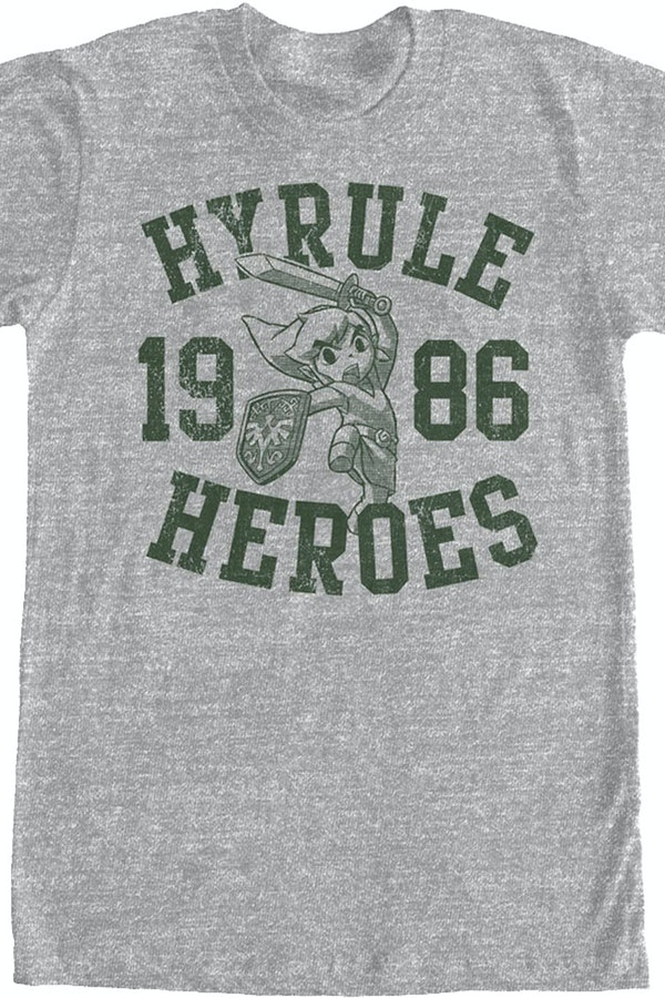 Hyrule Heroes 1986 T-Shirt: Legend of Zelda Mens T-Shirt