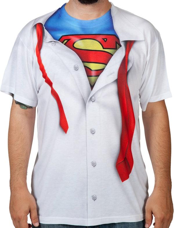 I am Superman Men's Costume Shirt: DC Comics Sublimation T-Shirt