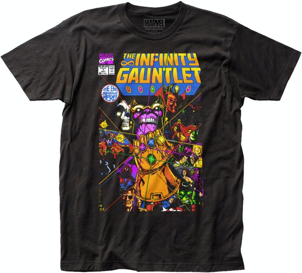 Infinity Gauntlet Thanos T Shirt Marvel Comics Mens T Shirt