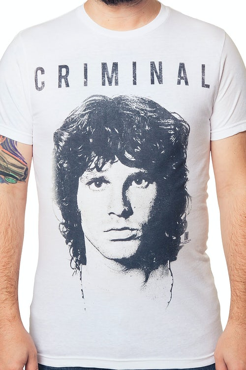 9a841a5dcfbe27 Jim Morrison Criminal T-Shirt  The Doors Jim Morrison Mens T-Shirt