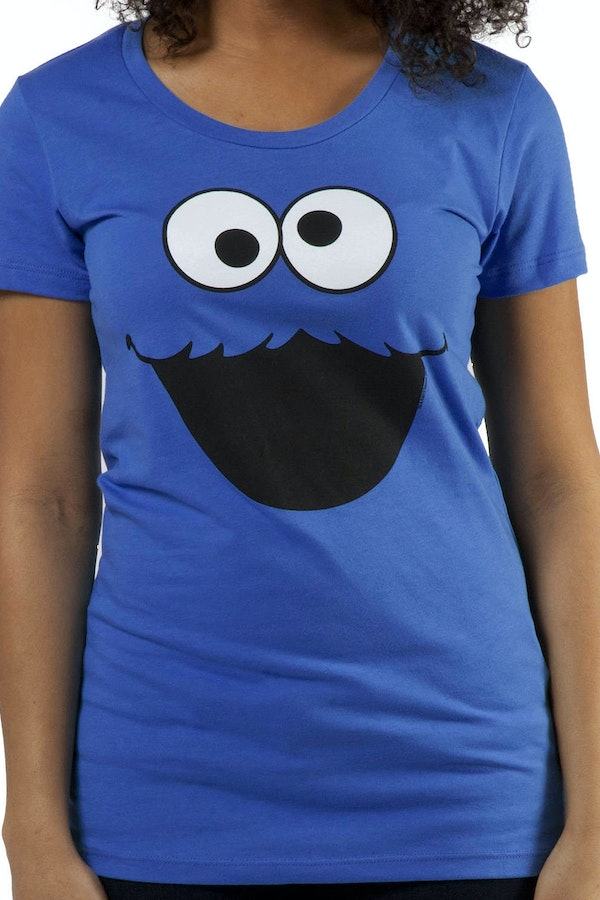 Jr Big Face Cookie Monster Shirt