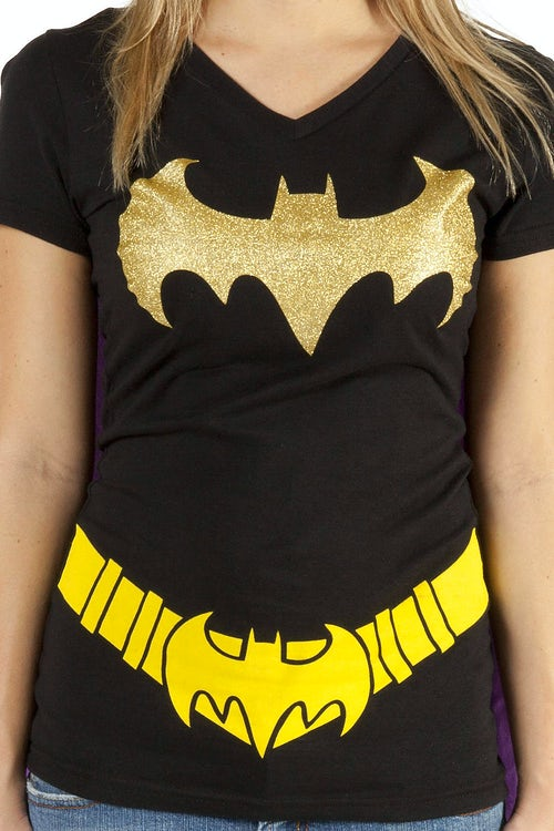 Ladies Batman Caped V-Neck Shirt