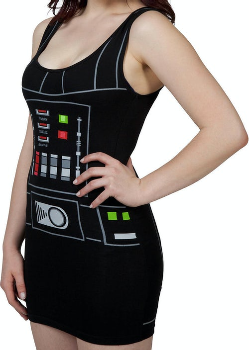 Ladies Darth Vader Tank Dress