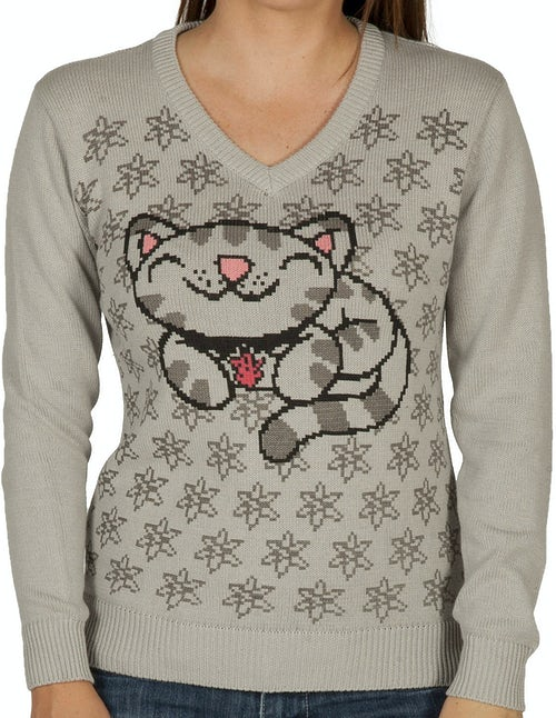 Ladies Soft Kitty Sweater