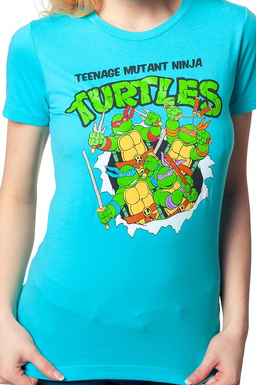 Ladies TMNT Breaking Through Shirt