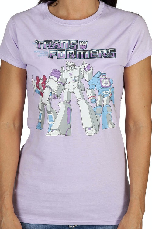 Ladies Trio Transformers Decepticon Shirt