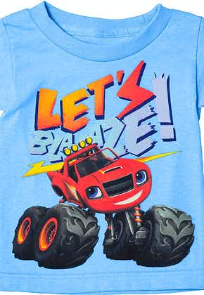 Light Blue Lets Blaze and the Monster Machines T-Shirt