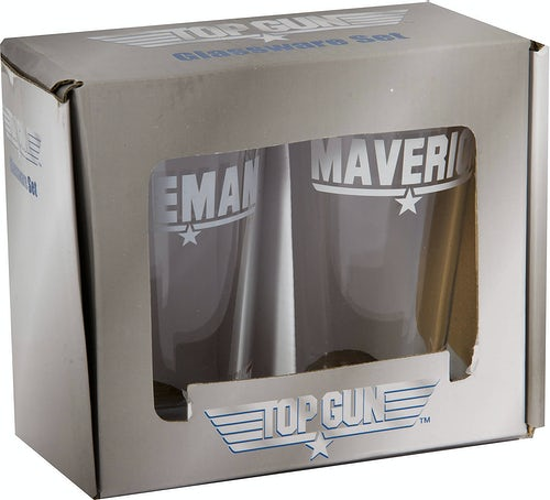Maverick and Iceman Pub Glasses