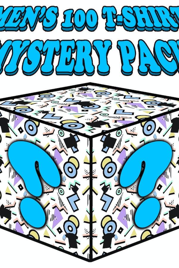 Mens 100 T-Shirt Mystery Pack: Mystery Box Mens T-Shirt